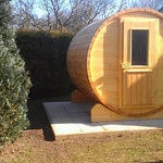 Fasssauna aus dem Hause Holz Herbert