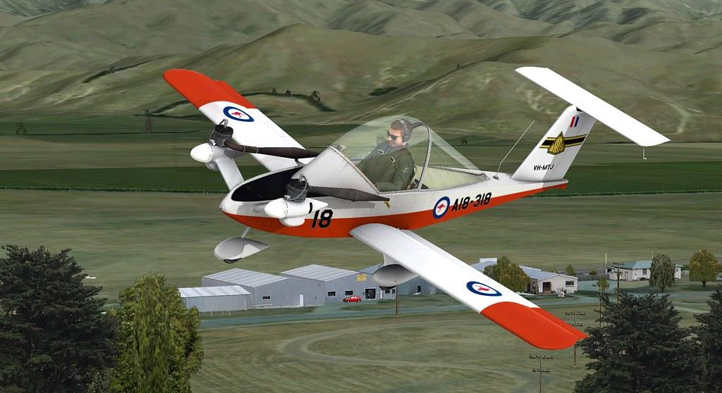 Colomban Cri Cri in RAAF livery over Omaka | FSX model by AT