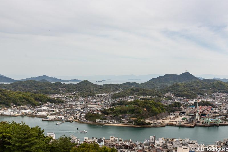 Vistas desde el mirador del parque Senkoji