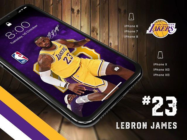 Lebron James (Los Angeles Lakers) iPhone Wallpaper