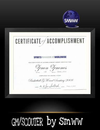 certification of GM SCOUT basketball by smww | by magikdostory