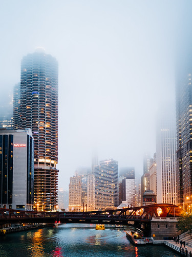 Chicago River at Dusk   by Web-Betty