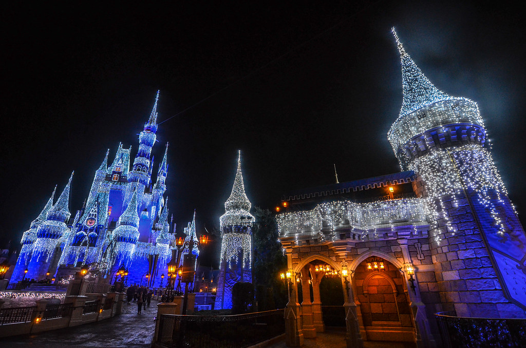 Castle and Turret Christmas night MK