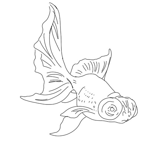 WS1904: Goldfish - Line Art | by COLORED PENCIL magazine