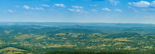 appalachian blueridge landscape mountains panorama smoky middlesboro ky usa