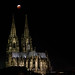 Blood Moon and Cologne Cathedral by wuestenigel