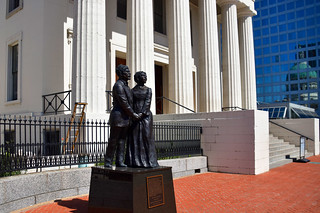 Statue of Dred and Harriet Scott by the Artist Harry Weber -- Old Courthouse Building St. Louis (MO) June 2018 | by Ron Cogswell