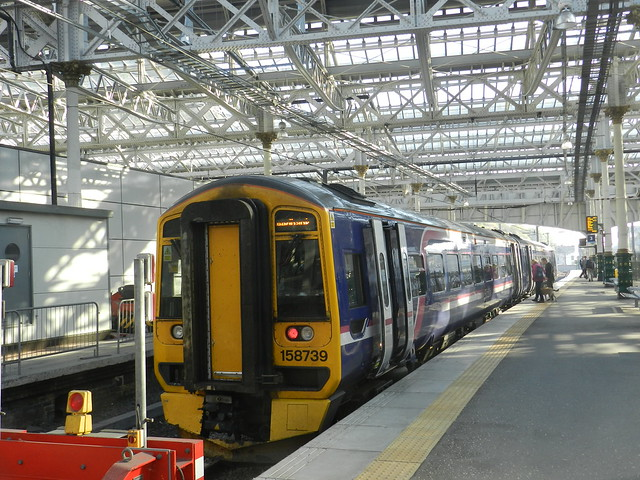 Edinburgh to Tweedbank, The Borders Railway, Waverley Station, 30th September 2015