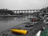 Calstock Railway Viaduct and River Tamar by Geoff Buck