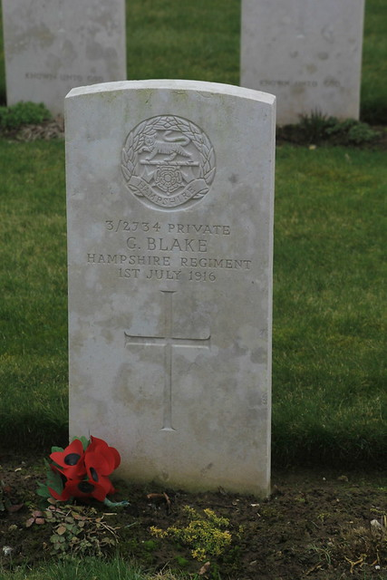 Mill Road Cemetery, Thiepval, The Somme, France WW1.