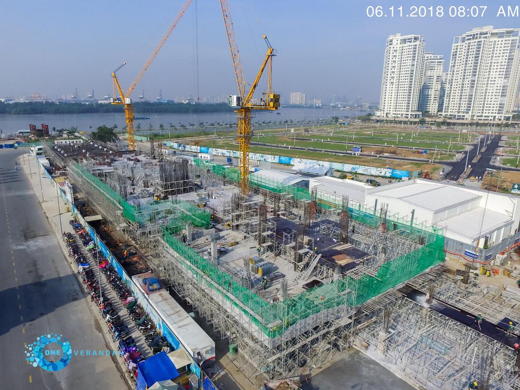 Tiến độ xây dựng căn hộ One Verandah 11-2018 6