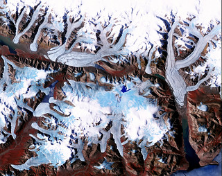 Ellesmere Island, which is part of the Qikiqtaaluk Region of the Canadian territory of Nunavut. Original from NASA. Digitally enhanced by rawpixel.