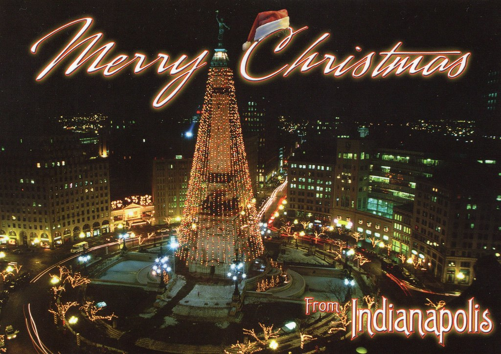 Christmas In Indianapolis.Merry Christmas From Indianapolis Copyright Werner Lobert