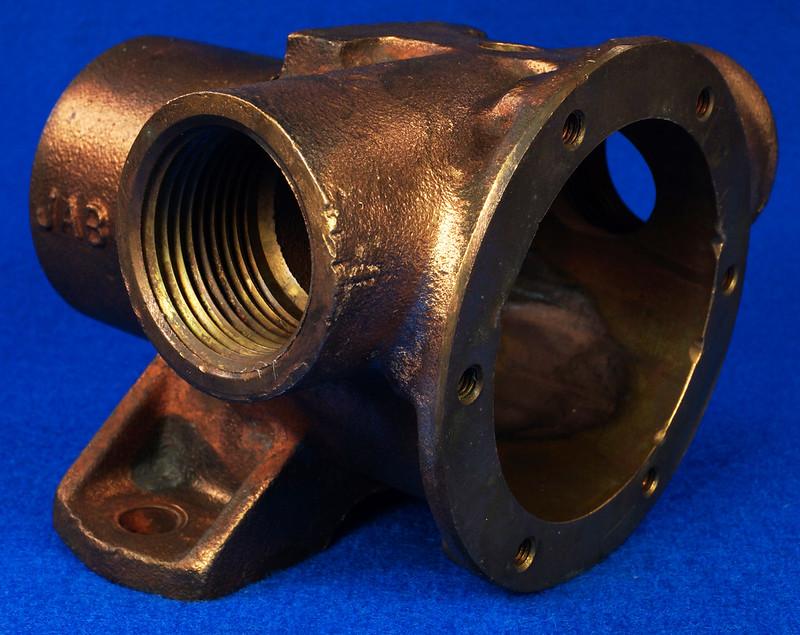 RD26699 Jabsco 2 inch Bronze Pedestal Pump Housing & Plate Only #18370-0000 DSC08797
