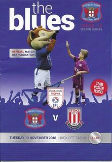Carlisle United V Stoke City 13-11-18 | by cumbriangroundhopper