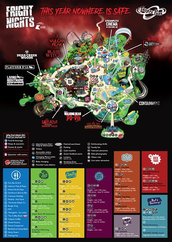 Thorpe Park Fright Nights 2018 Park Map | by ThemeParkMedia