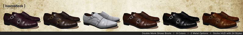 NEW - Double Monk Shoes for Signature Gianni & Geralt, Belleza Jake, Slink Physique and Classic Avatar