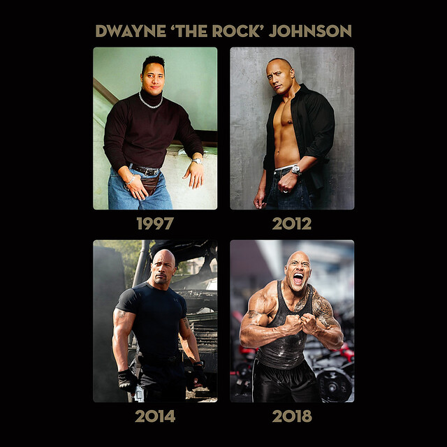Dwayne Johnson 1997 - 2018