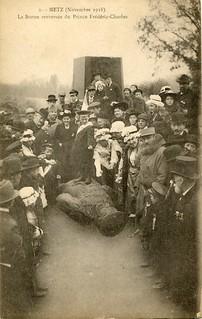 La Statue renversée du Prince Frédéric-Charles, Metz (November 1918)