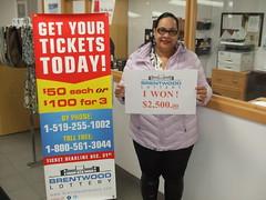 Congratulations to Clarissa Wheeler the winner of the $2500 cash prize!