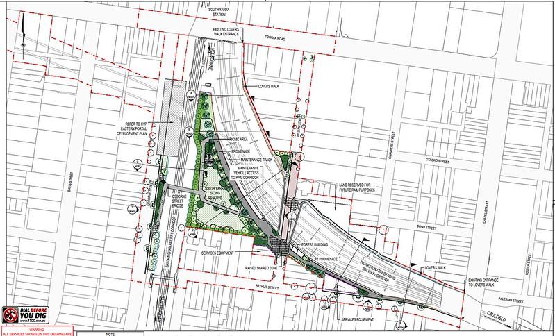 Melbourne Metro 1 tunnel draft plans: Eastern portal