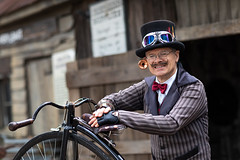 John and His Penny-Farthing