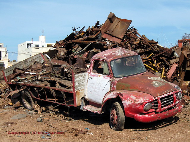 Bedford J type in Fgura scrapyard , Malta