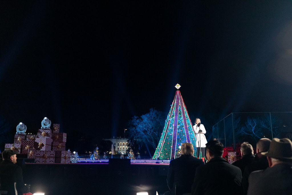 National Christmas Tree Lighting.2018 National Christmas Tree Lighting President Donald J