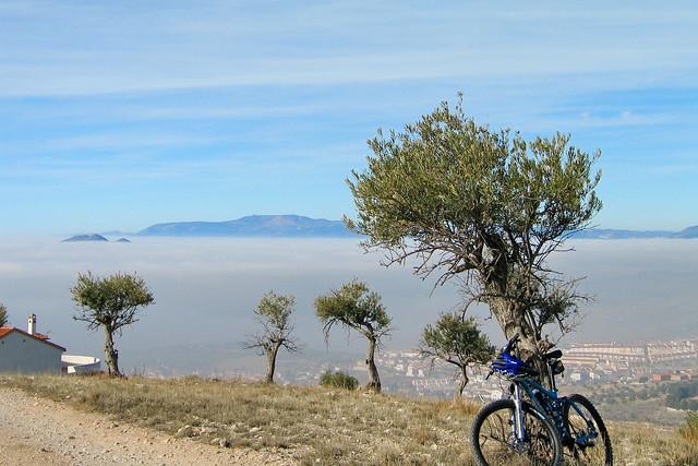 Mi bici en la niebla