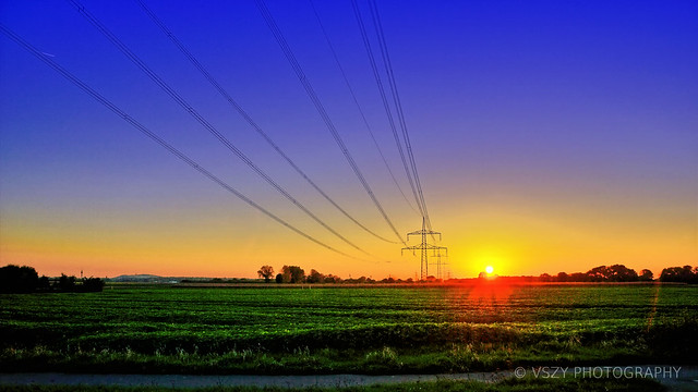 Powerlines by Sunset