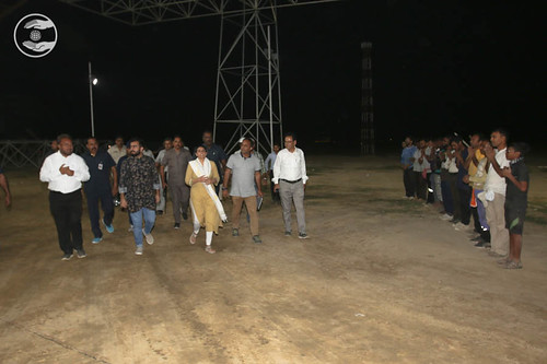 Her Holiness visits the Samagam Ground