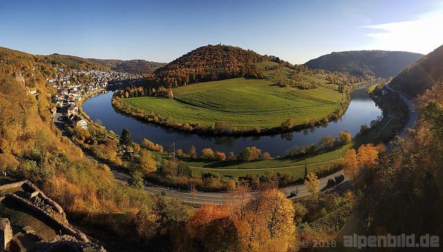 Herbst an der Neckarschleife Neckarsteinach