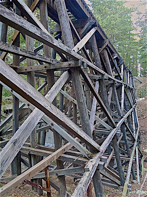 Historic Wood Railroad Trestle