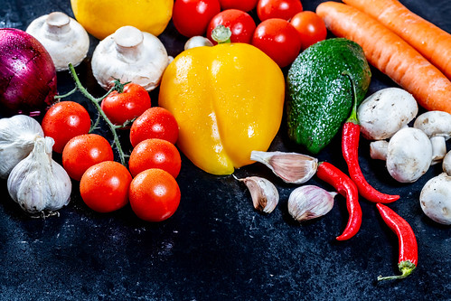Concept of healthy food- fresh vegetables   by wuestenigel