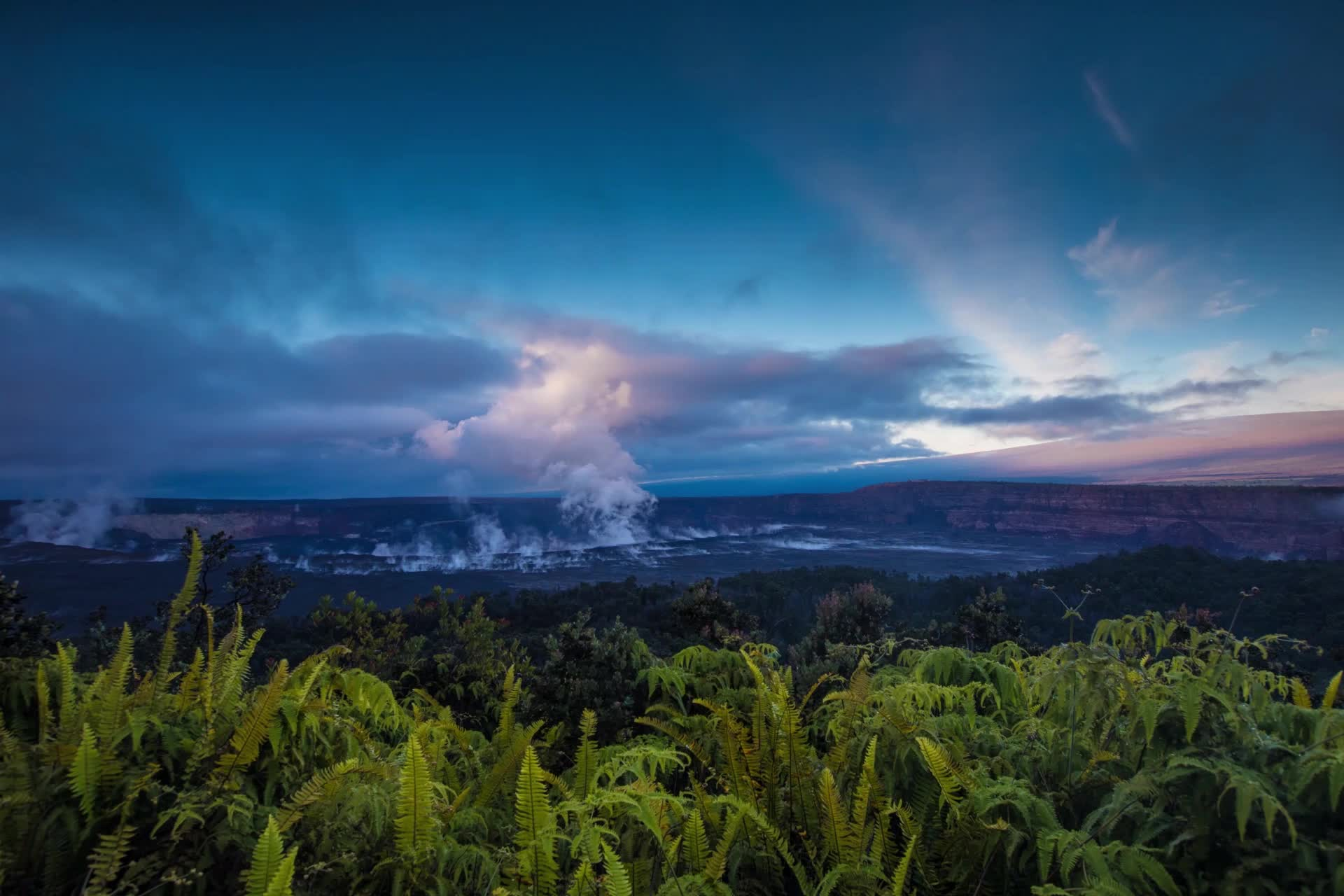 Timelapse of Kīlauea from Volcano House, 11.23.18