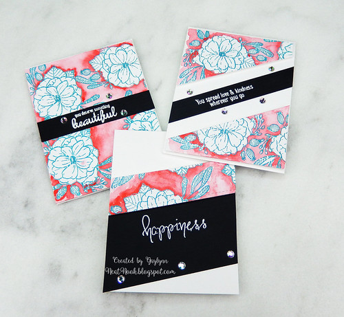 Floral Watercolor Card Set of 3 ~ Handmade floral paper tutorial