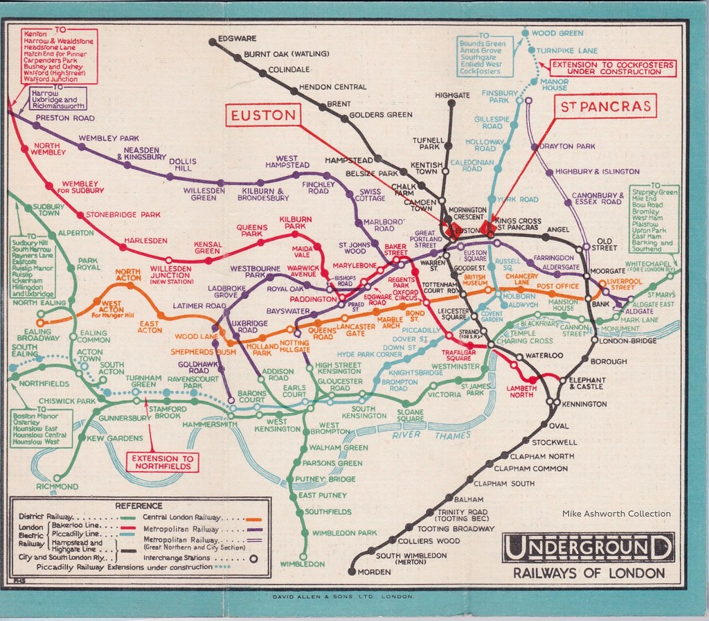 Map Of London With Underground.Map Of London S Underground Railways Card Folder By F H S Flickr