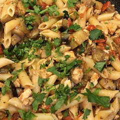Penne with #Eggplant and #Swordfish #PesceSpada #tradition #Homemade #Food #CucinaDelloZio -