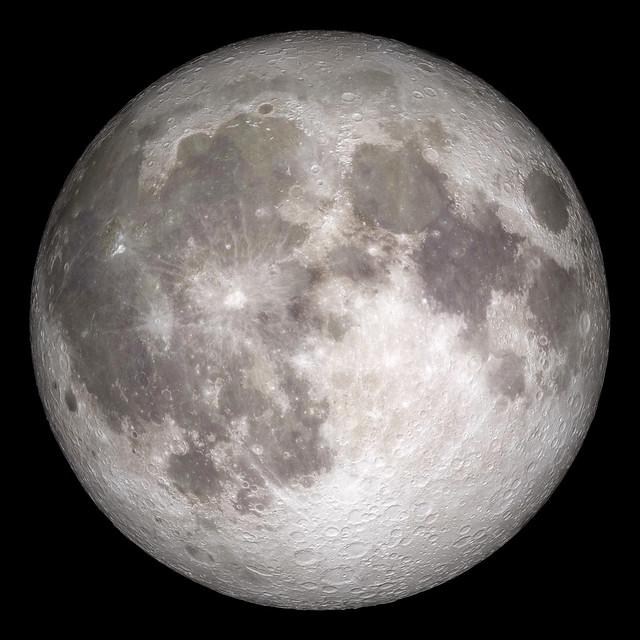 Full moon. Original from NASA. Digitally enhanced by rawpixel.