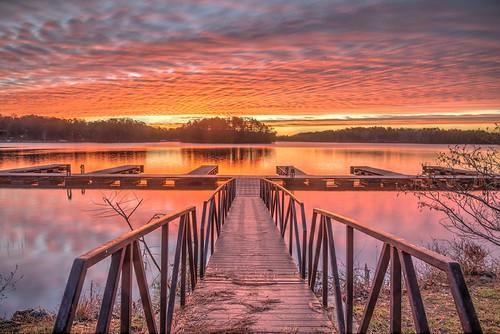 ronmayhew canoneos5dmarkiv sunrise cloud sky water lake lakelanier dock ramp