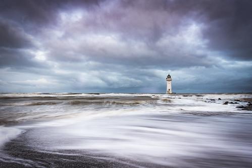 lighthouse wielkabrytania wirral perchrock mersey merseyside hightide sea coast beach landscape uk unitedkingdom england lukaszlukomski nikond7200 sigma1020 irishsea liverpool clouds sunrise waves