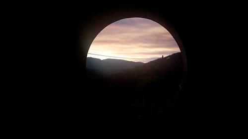 capelo coimbra portugal prt hole through evening sunset colours