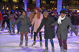 Picture Of Citi Pond Ice Skating At Bryant Park In New York City. Citi Pond Ice Skating Started Saturday October 27, 2018 And Ends Sunday March 3, 2019. Photo Taken Friday December 7, 2018