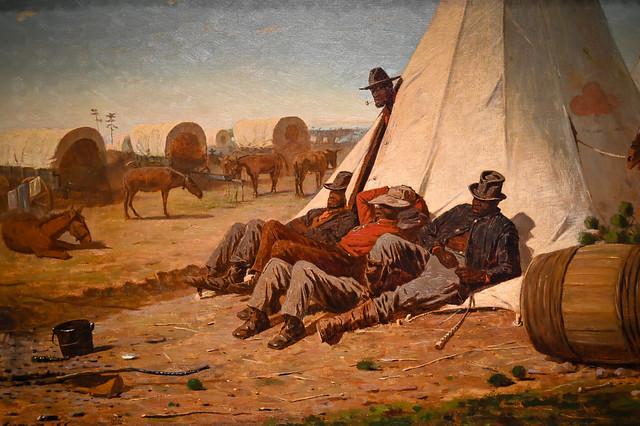 Winslow Homer - Army Teamsters, 1866 at Chrysler Museum of Art Norfolk VA