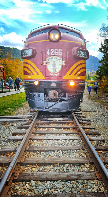 Boston and Maine locomotive at Crawford Station on the Conway Scenic Railroad