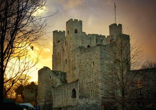 castle uk rochester dickens dickensian sunset