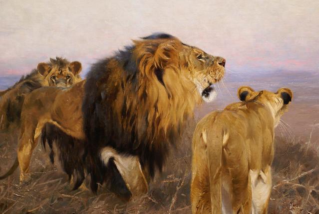 Wilhelm Kuhnert, Löwen - Lions - Detail
