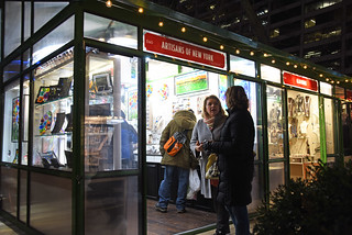 A Picture Of A Christmas Specialty Shop At Bryant Park In New York City. The Christmas Specialty Shops Will Be Open In Bryant Park Until Wednesday January 2, 2019. Photo Taken Friday December 7, 2018