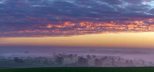 sunrise cotswolds mist misty fog foggy dawn dawnmist light landscape sony a7iii 70200mmf4 jactoll templeguiting