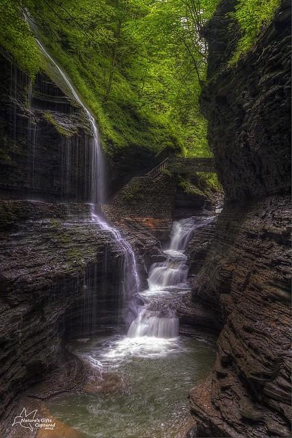 Rainbow Falls - Watkins Glen State Park